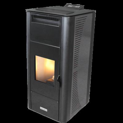 Centrometal CentroPelet ZV24 meleg levegős és vízteres pellet tüzelésű kandalló, kályha (szürke)