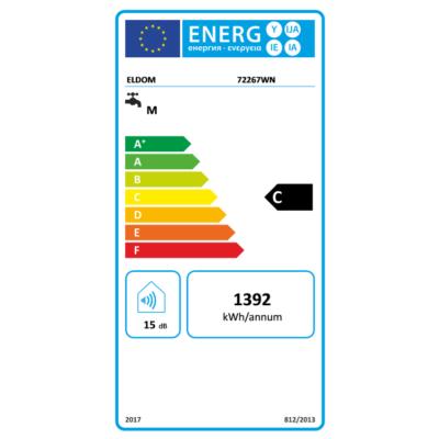 ELDOM Style D 50 literes zománcozott elektromos vízmelegítő száraz fűtőbetéttel (1