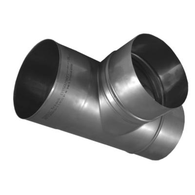 Ø130 mm, Kerek bekötő idom 0,8mm-es saválló anyagból (90°)