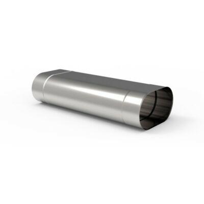 Ovális 500 mm-es hosszúságú kémény béléscső (110X185)