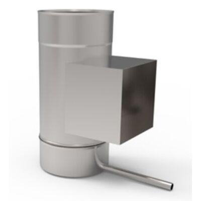 Ø130 mm, Kerek kezdőidom kondenzvíz elvezetővel, tisztító idommal (kerek)