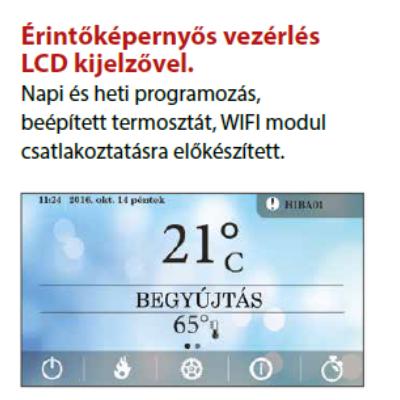 RUBYNOR ONYX HYDRO 24 vízteres agri pellet tüzelésű kályha (24