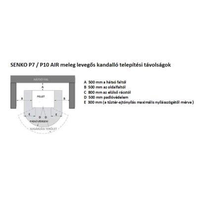SENKO P 7 AIR - telepítési távolságok