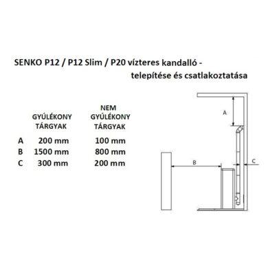 SENKO P 20 WATER+AIR - telepítés és csatlakozás