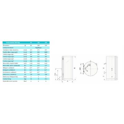 Centrometal SKB-Digi 100 műszaki adatok