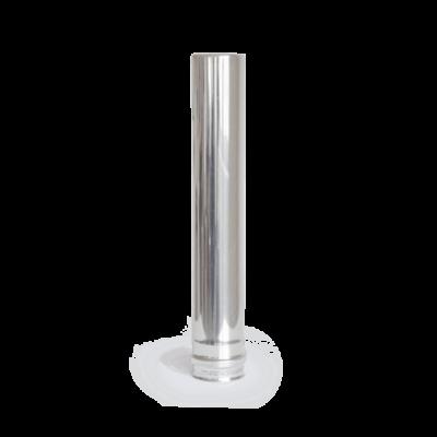 80 × 500 mm rozsdamentes pellet kályha füstcső - fémszínű