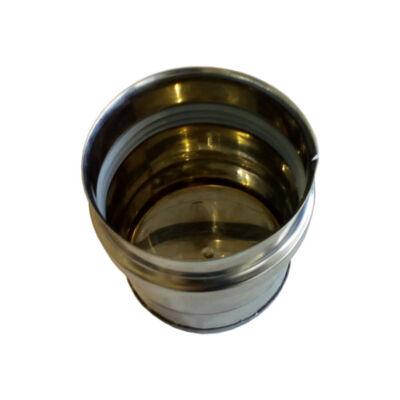 Rozsdamentes kondenzvíz gyűjtő edény (80 mm) - fémszínű