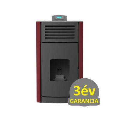 RUBYNOR ONYX HYDRO 24 vízteres agri pellet tüzelésű kályha (24,2 kW - bordó)