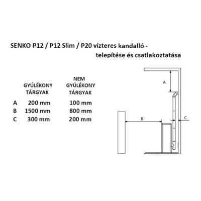 SENKO P 12 WATER+AIR - telepítés és csatlakozás
