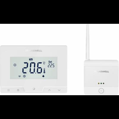 SASWELL T19 RF-WIFI programozható digitális vezeték nélküli Wi-Fi szobatermosztát központi fűtéshez és hűtéshez